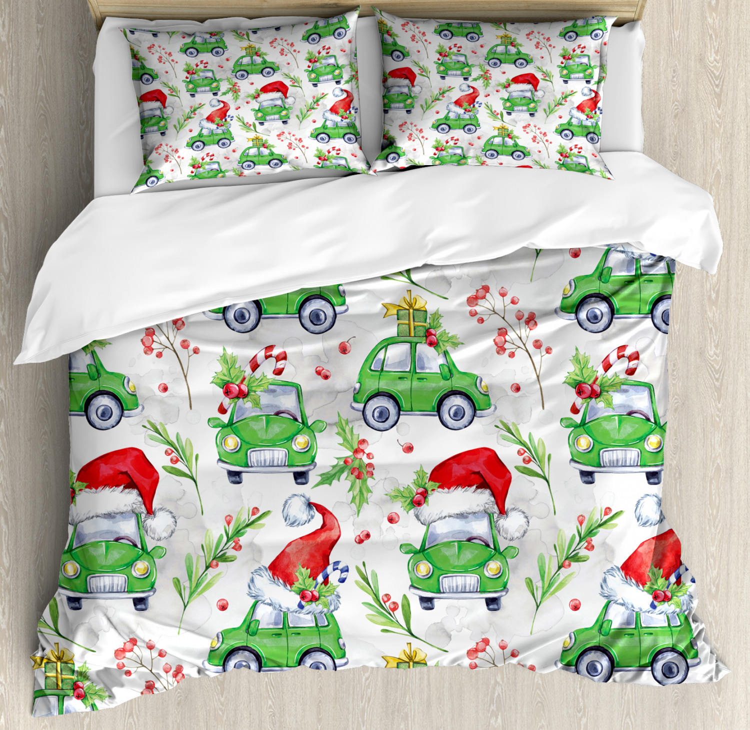 Colorful-Cars-Duvet-Cover-Set-Twin-Queen-King-Sizes-with-Pillow-Shams-Bedding miniature 58