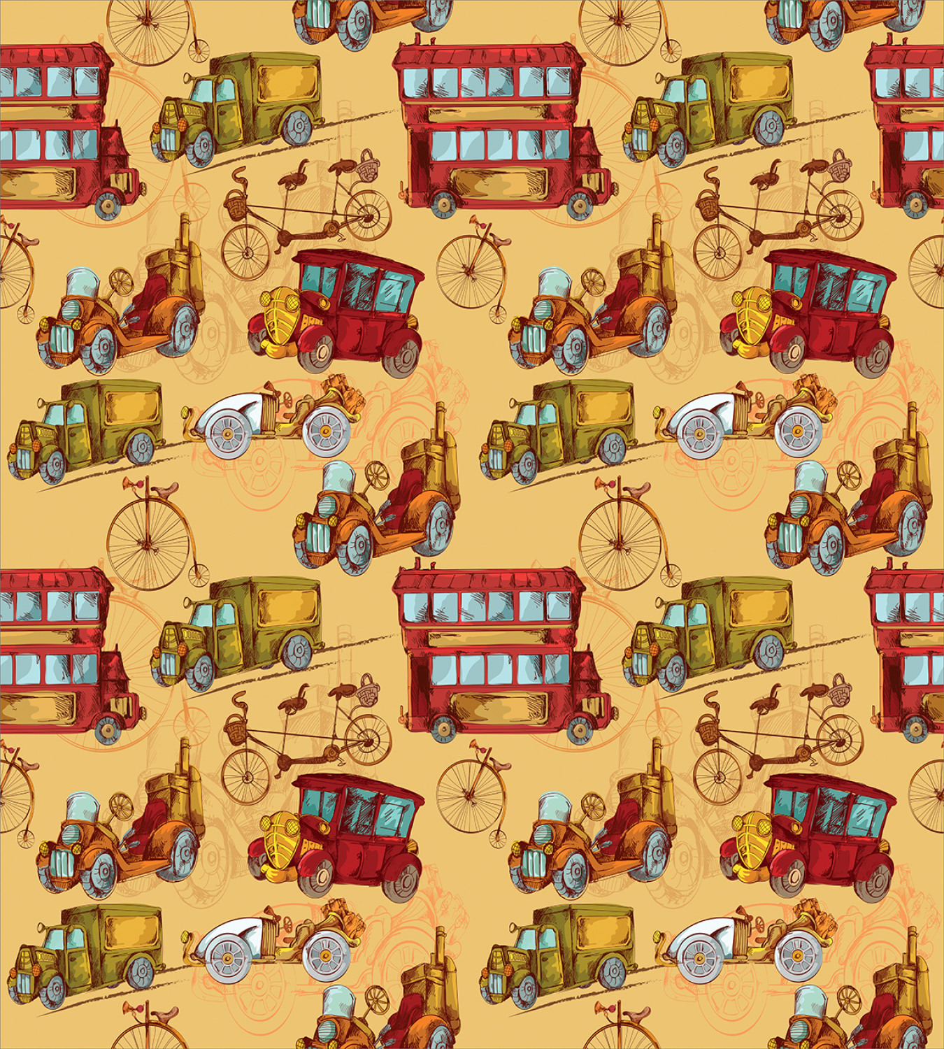 Colorful-Cars-Duvet-Cover-Set-Twin-Queen-King-Sizes-with-Pillow-Shams-Bedding miniature 74