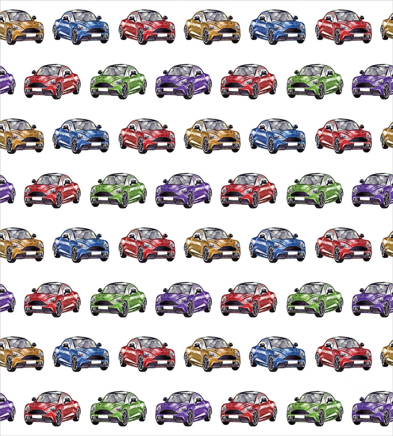 Colorful-Cars-Duvet-Cover-Set-Twin-Queen-King-Sizes-with-Pillow-Shams-Bedding miniature 41