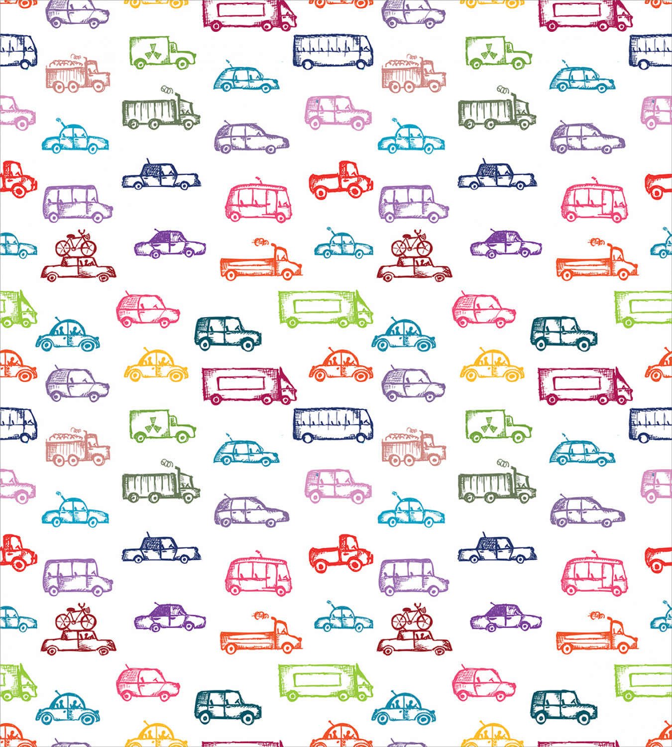 Colorful-Cars-Duvet-Cover-Set-Twin-Queen-King-Sizes-with-Pillow-Shams-Bedding miniature 32