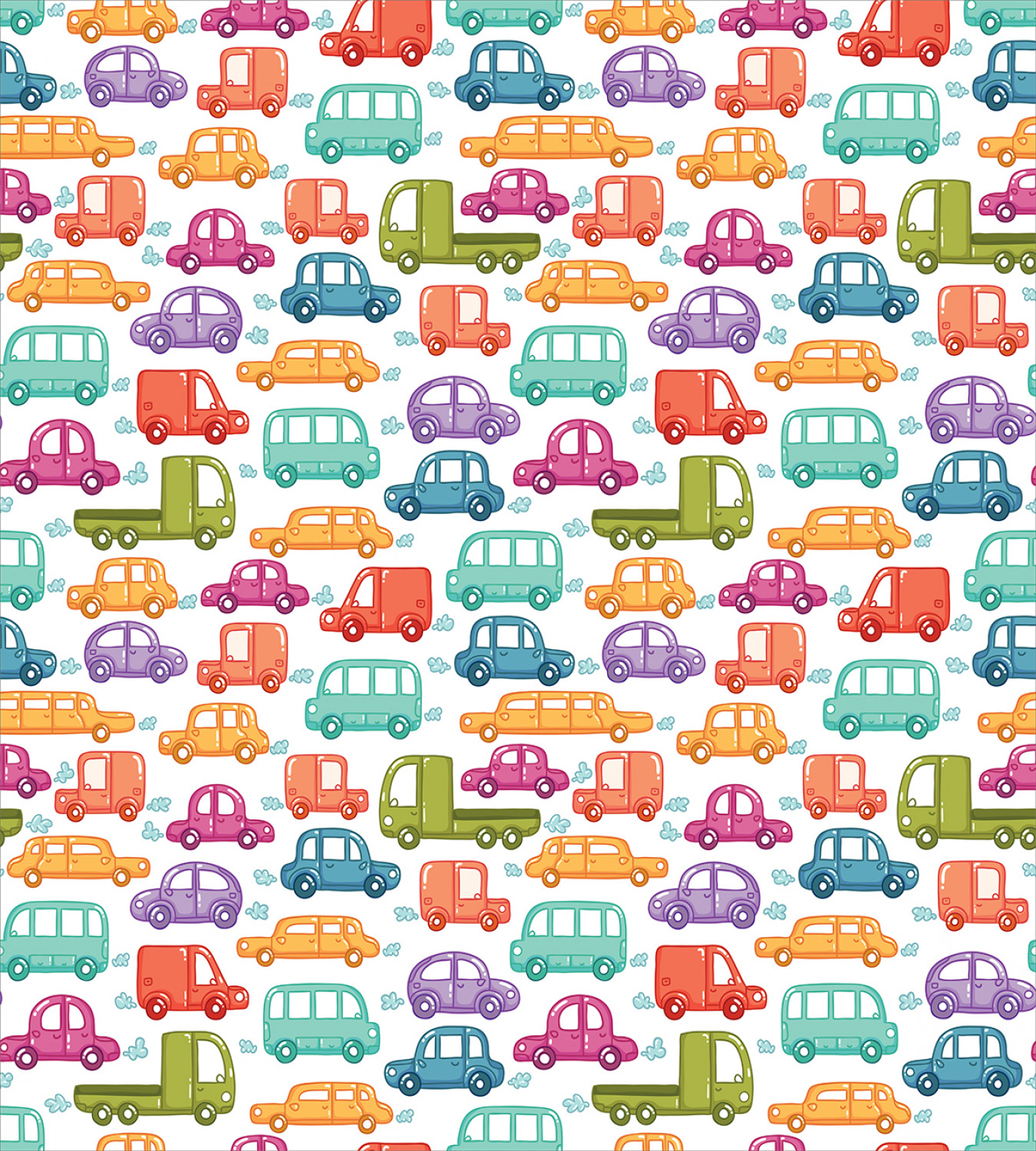 Colorful-Cars-Duvet-Cover-Set-Twin-Queen-King-Sizes-with-Pillow-Shams-Bedding miniature 83