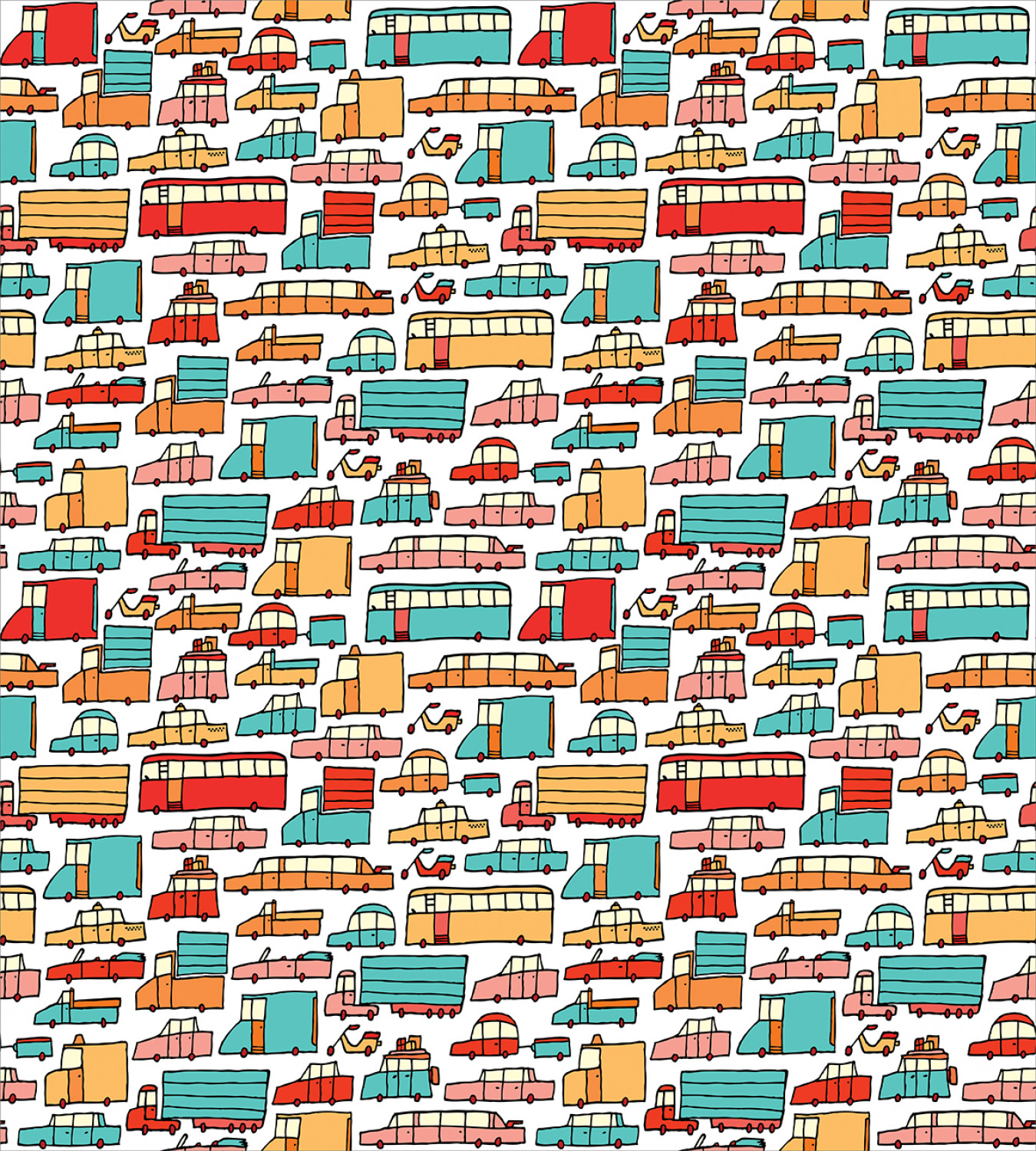 Colorful-Cars-Duvet-Cover-Set-Twin-Queen-King-Sizes-with-Pillow-Shams-Bedding miniature 56