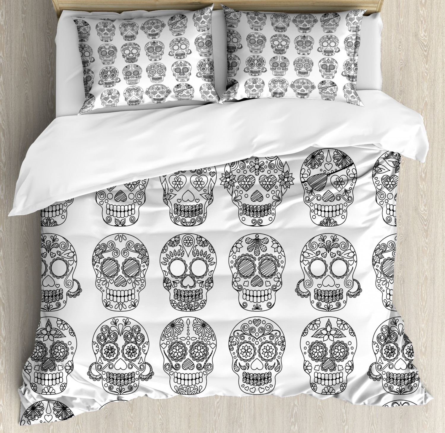 Mexican Duvet Cover Set with Pillow Shams The Day of the ...