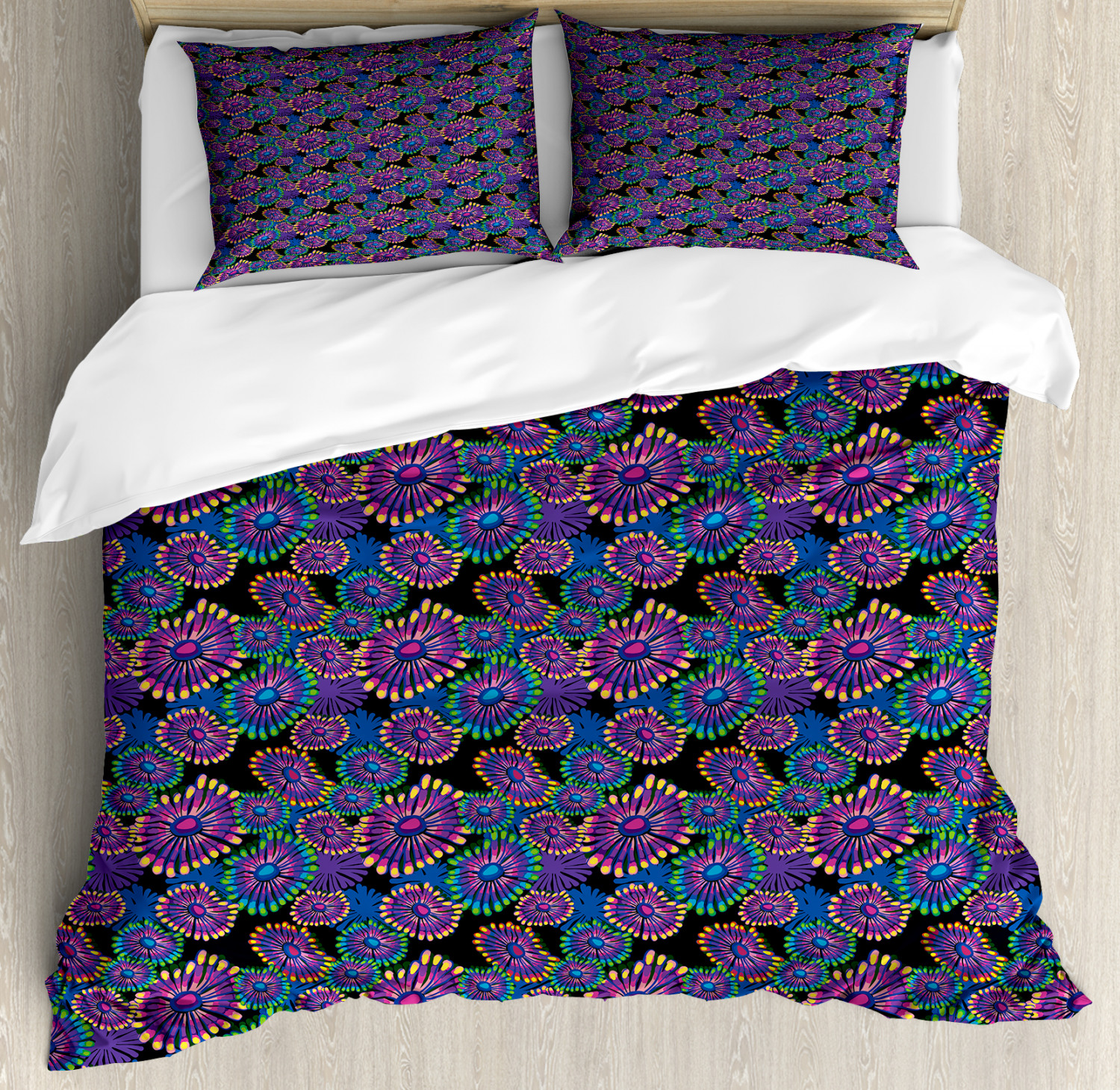 Abstract Duvet Cover Set with Pillow Shams Surreal Expressionism Print