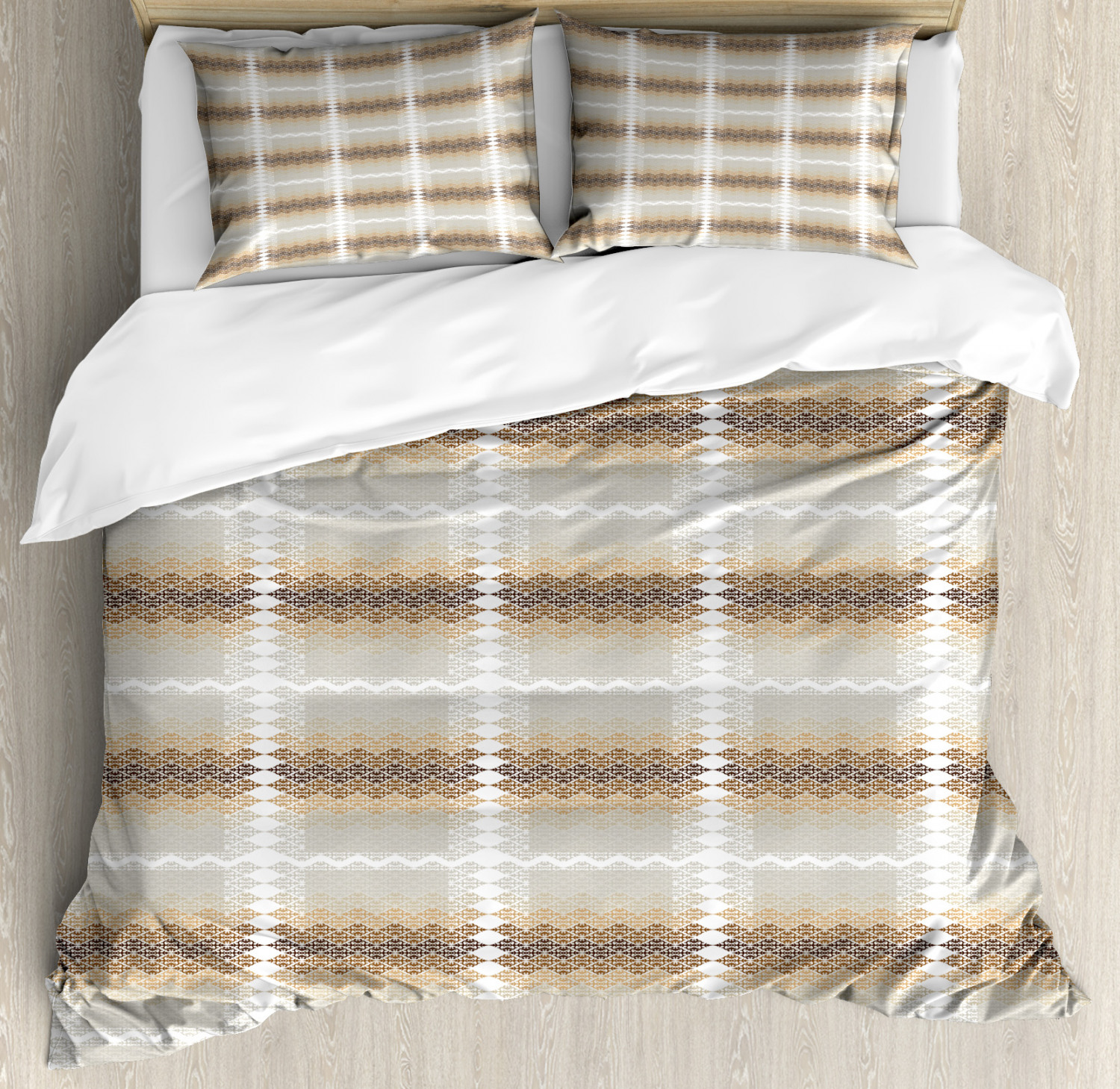 Abstract Duvet Cover Set with Pillow Shams African Arabic Culture Print