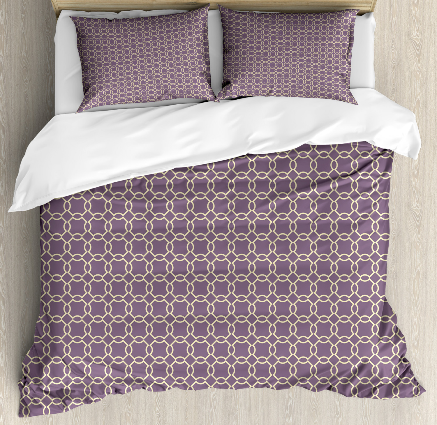Geometric Duvet Cover Set with Pillow Shams Abstract Lines Vivid Print