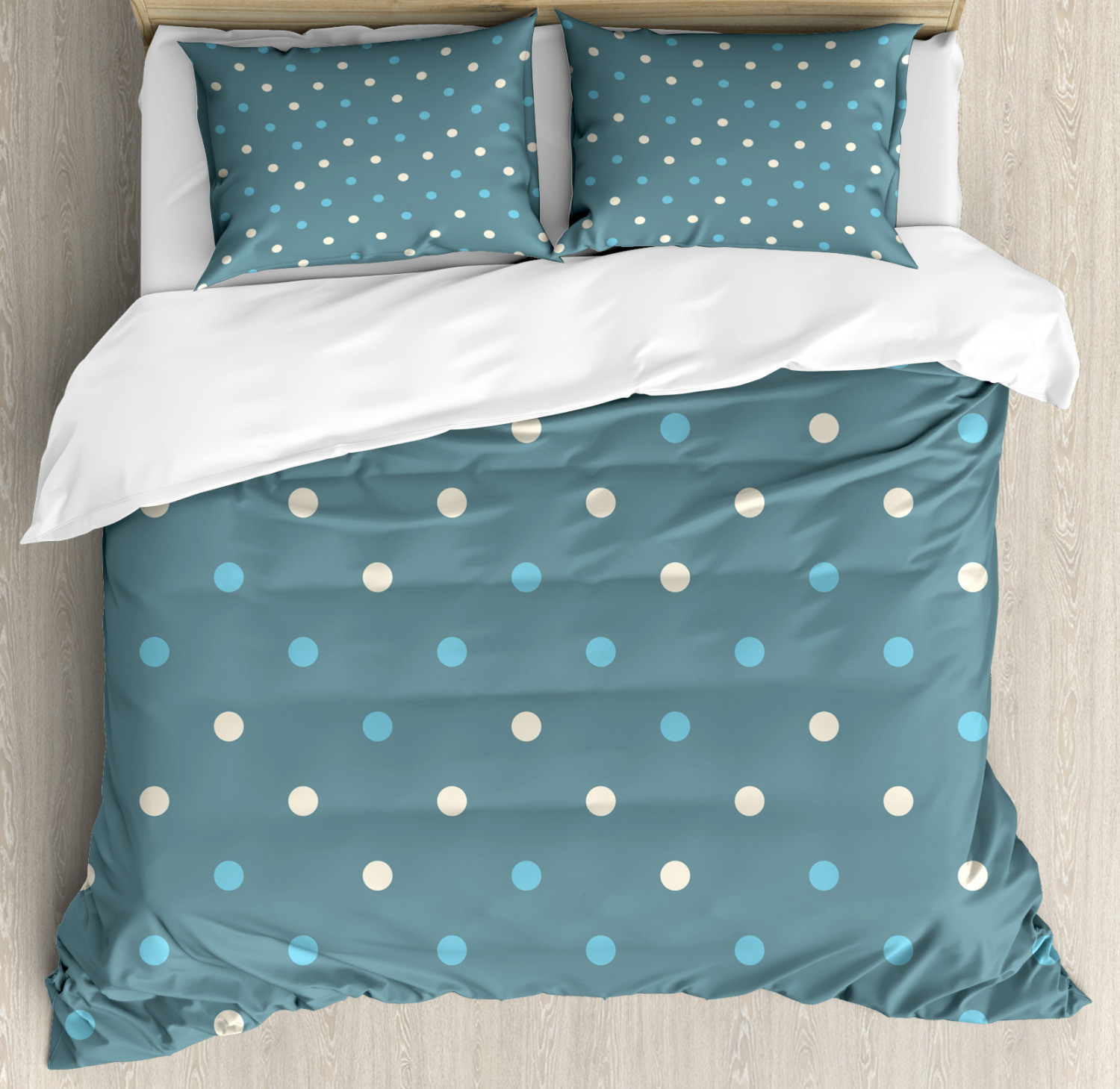 Geometric Duvet Cover Set with Pillow Shams Spotted West Motifs Print