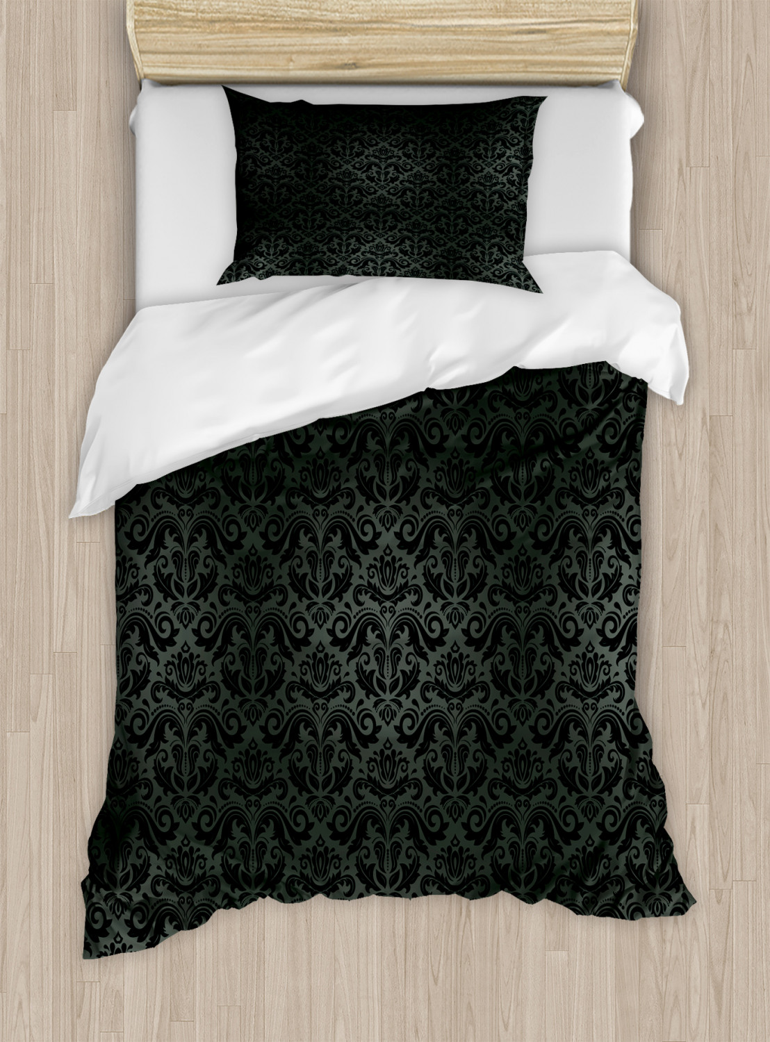Dark-Grey-Duvet-Cover-Set-Twin-Queen-King-Sizes-with-Pillow-Shams-Ambesonne thumbnail 13