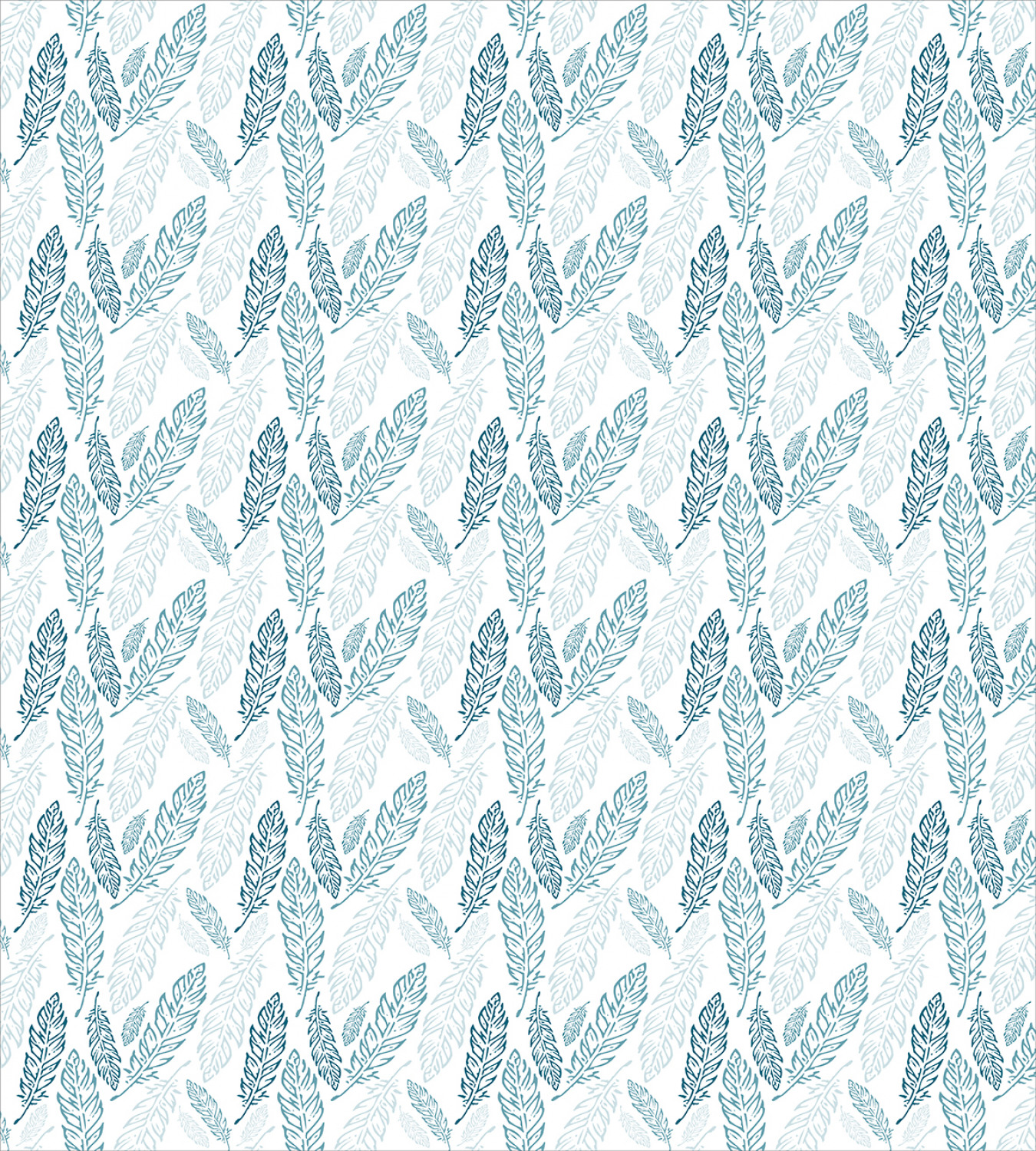 Teal-and-White-Duvet-Cover-Set-Twin-Queen-King-Sizes-with-Pillow-Shams-Ambesonne thumbnail 30