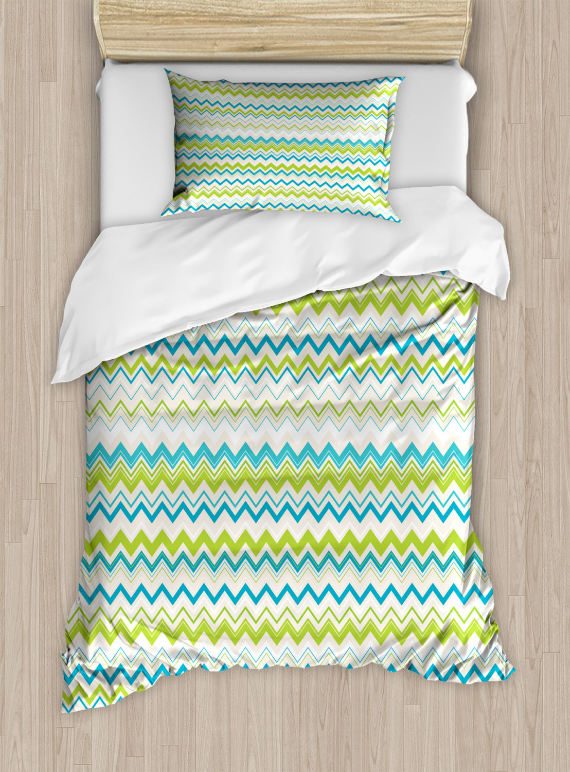 Teal-and-White-Duvet-Cover-Set-Twin-Queen-King-Sizes-with-Pillow-Shams-Ambesonne thumbnail 50