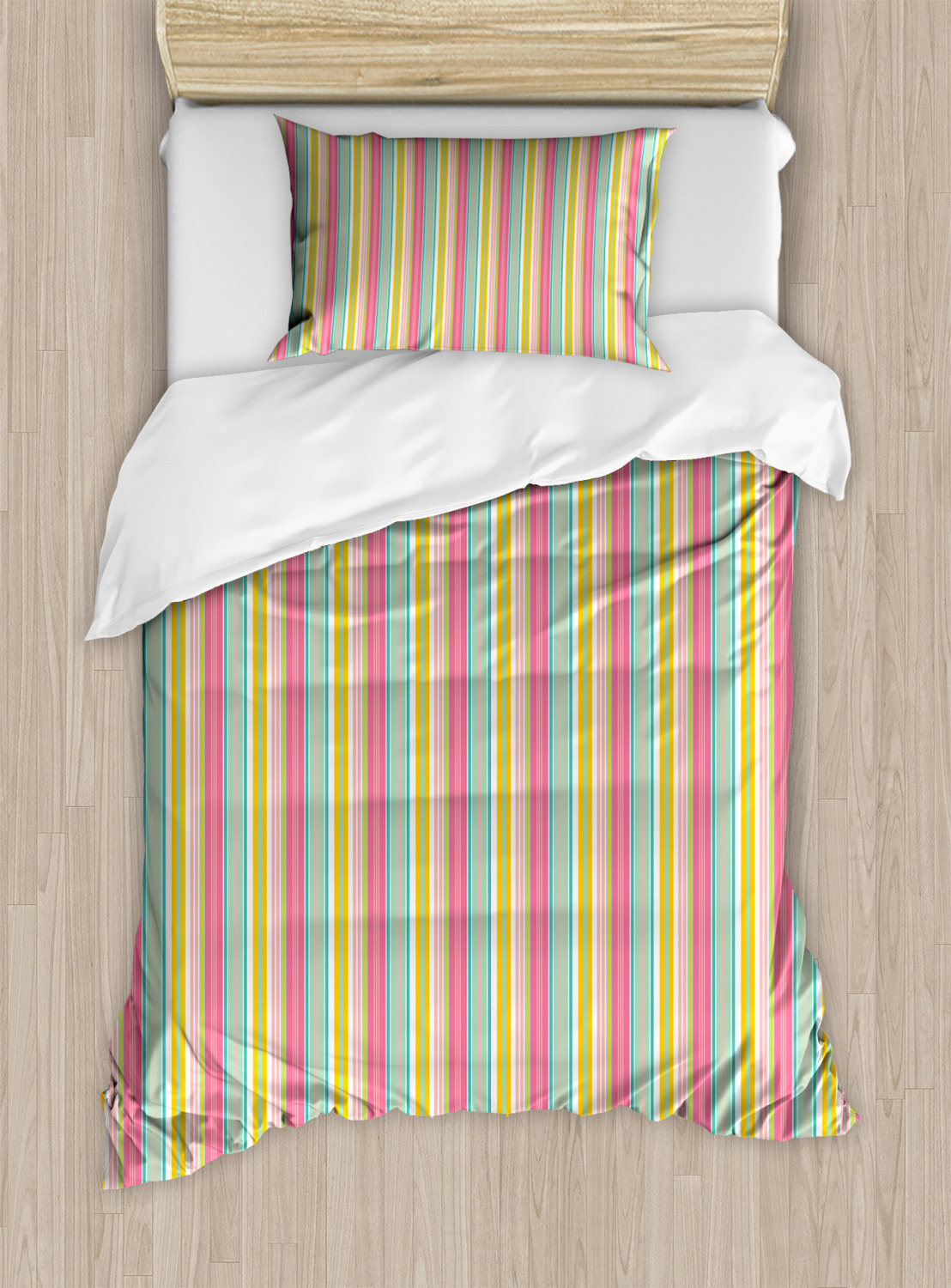 Teal-and-White-Duvet-Cover-Set-Twin-Queen-King-Sizes-with-Pillow-Shams-Ambesonne thumbnail 35