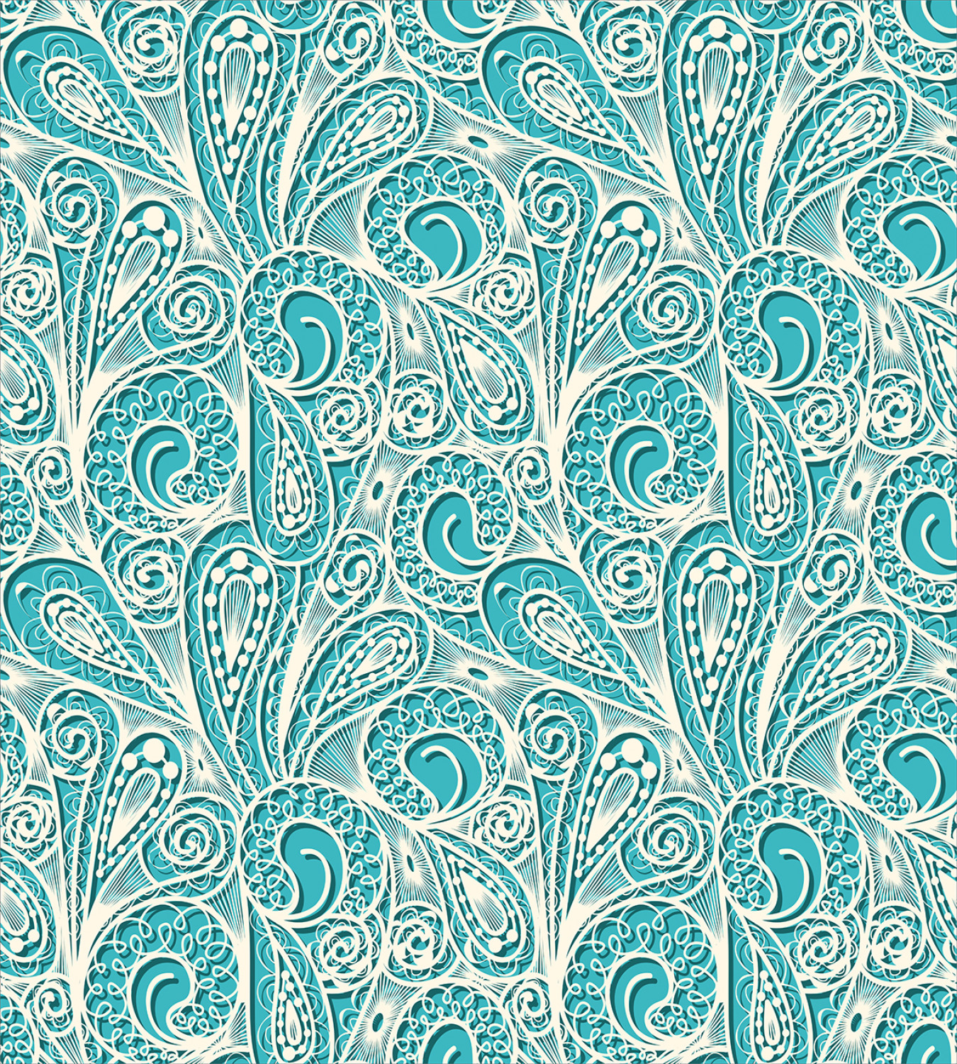Teal-and-White-Duvet-Cover-Set-Twin-Queen-King-Sizes-with-Pillow-Shams-Ambesonne thumbnail 33
