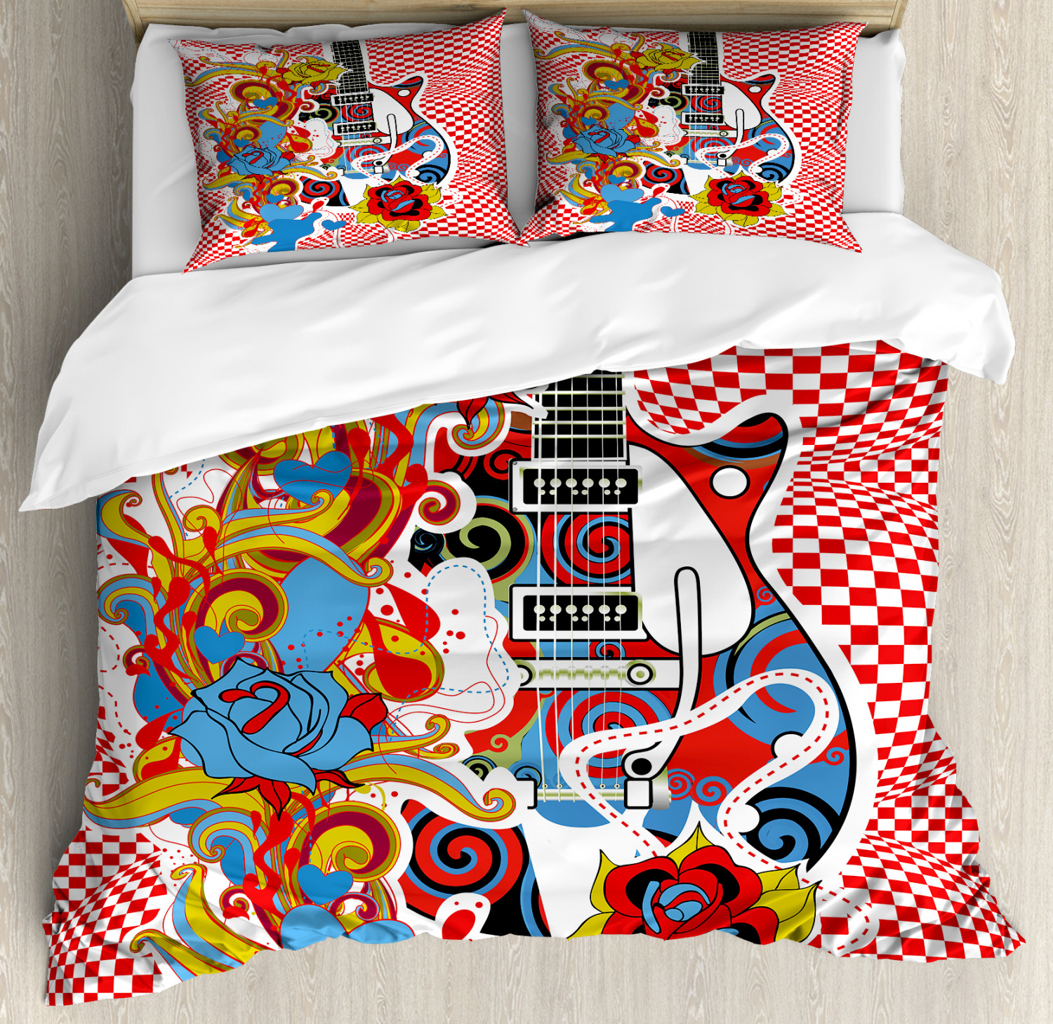 Rock Music Duvet Cover Set Twin Queen King Sizes With