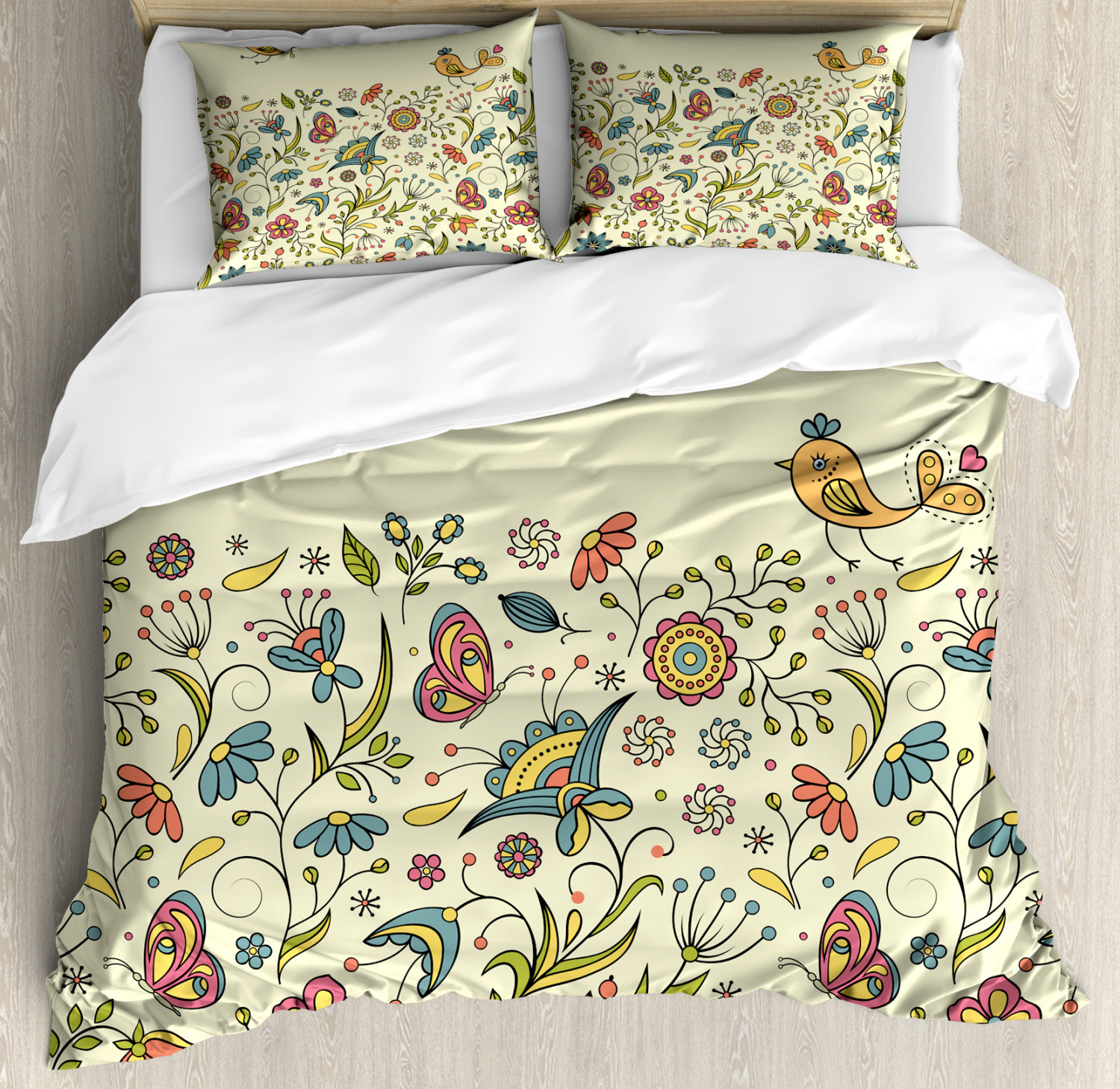 floral duvet cover set twin queen king sizes with pillow shams bedding decor ebay. Black Bedroom Furniture Sets. Home Design Ideas