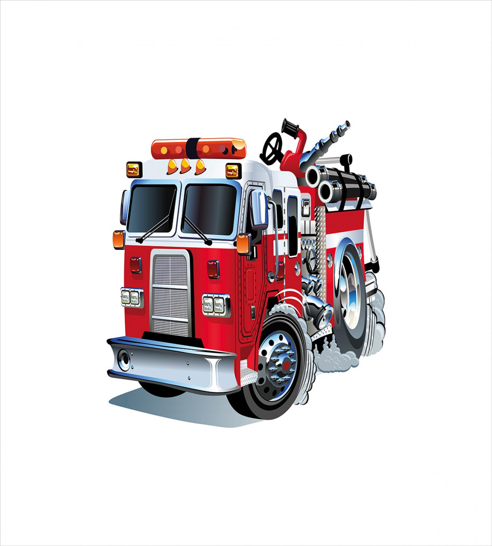 Truck Duvet Cover Set with Pillow Shams Fire Brigade ...