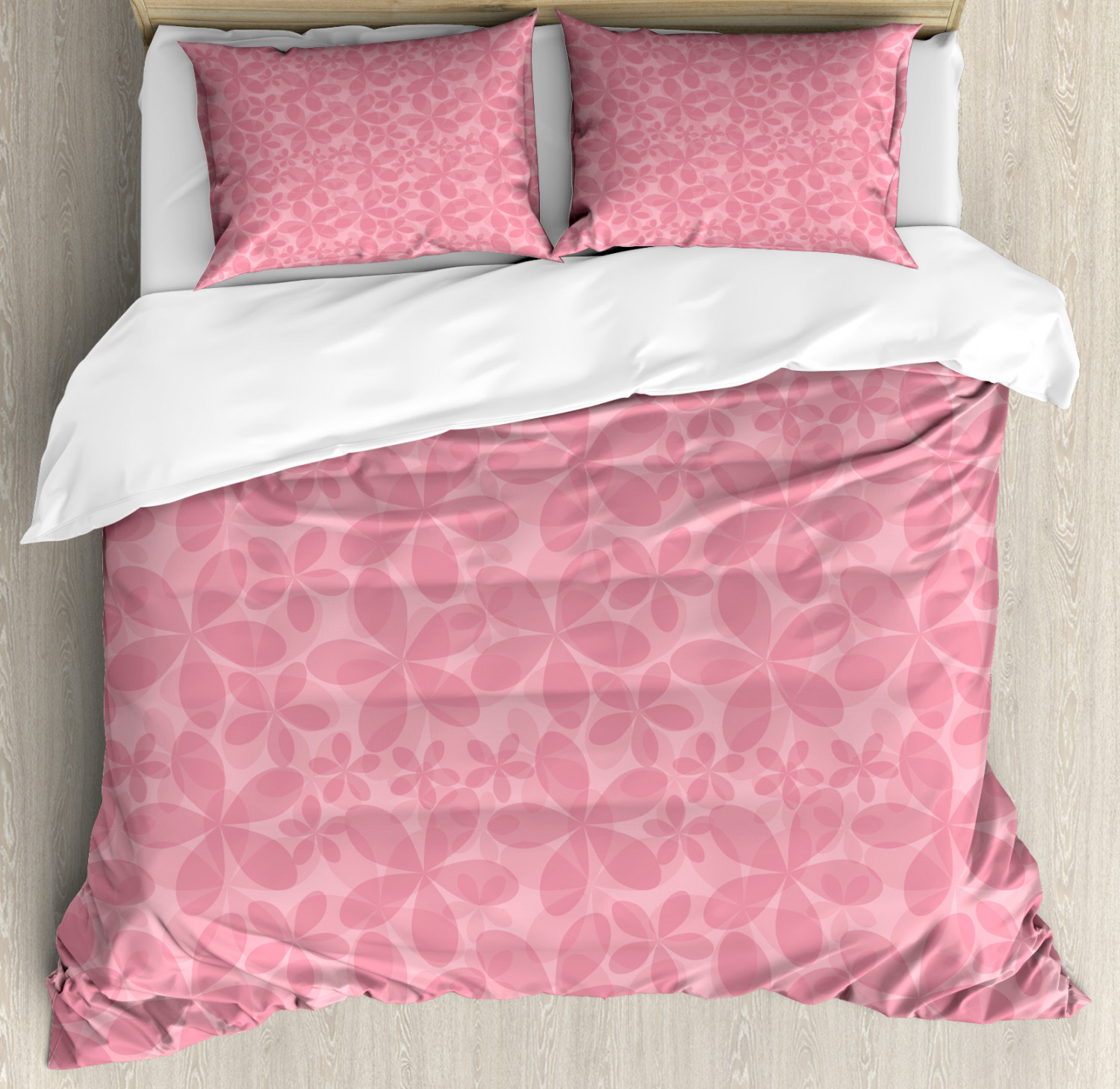 Pink And White Duvet Cover Set Twin Queen