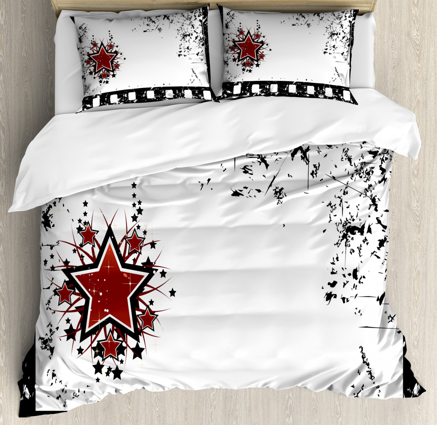 Movie Theater Duvet Cover Set Twin Queen King Sizes With