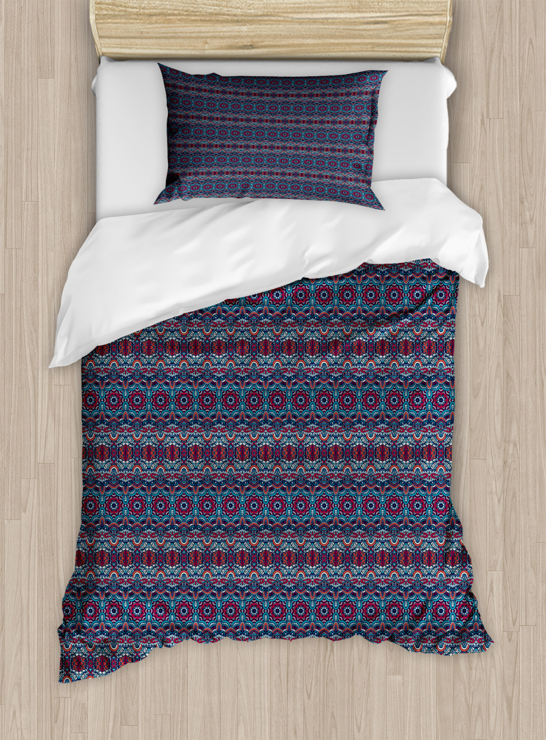 Timeless-Oriental-Duvet-Cover-Set-Twin-Queen-King-Sizes-with-Pillow-Shams thumbnail 67