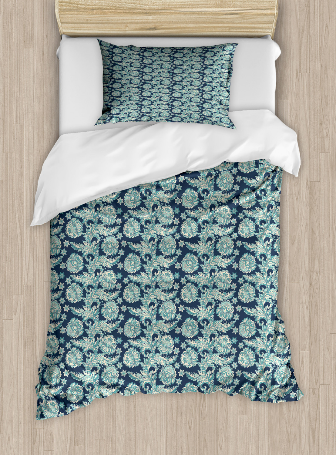 Timeless-Oriental-Duvet-Cover-Set-Twin-Queen-King-Sizes-with-Pillow-Shams thumbnail 49