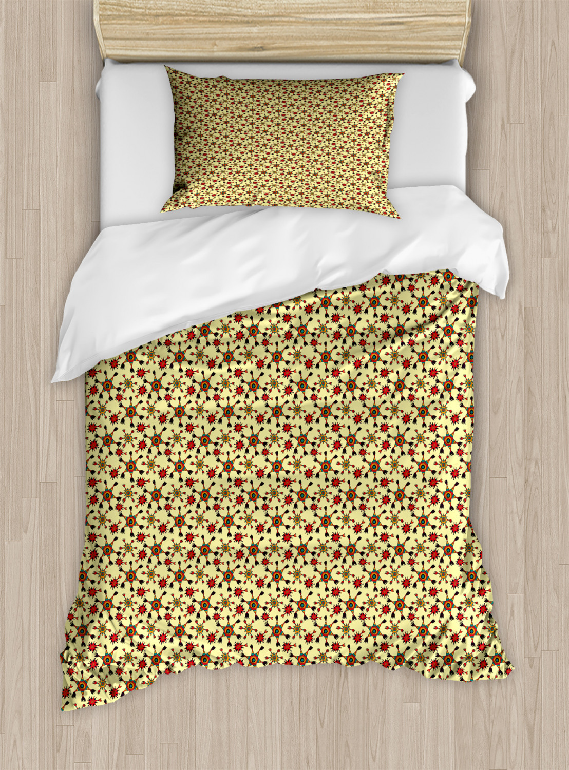 Timeless-Oriental-Duvet-Cover-Set-Twin-Queen-King-Sizes-with-Pillow-Shams thumbnail 13
