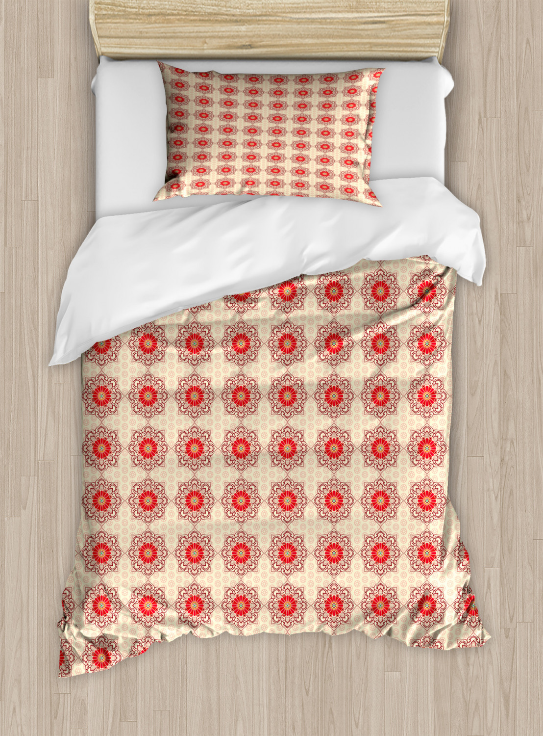Timeless-Oriental-Duvet-Cover-Set-Twin-Queen-King-Sizes-with-Pillow-Shams thumbnail 76
