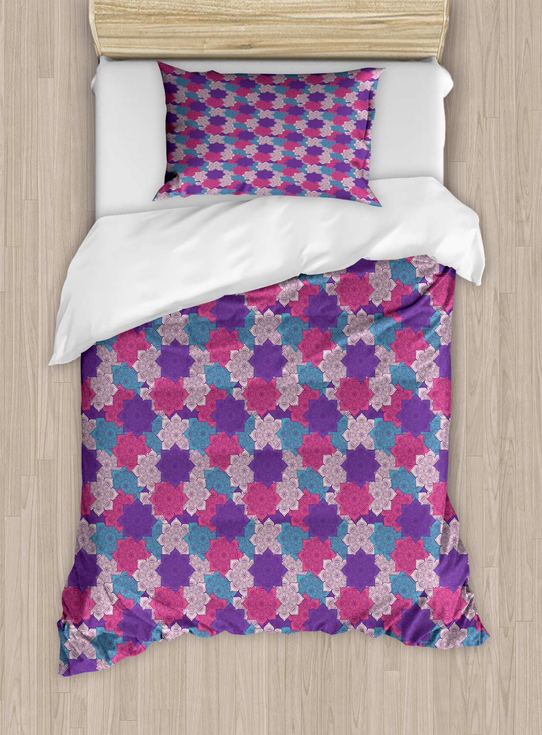 Timeless-Oriental-Duvet-Cover-Set-Twin-Queen-King-Sizes-with-Pillow-Shams thumbnail 70