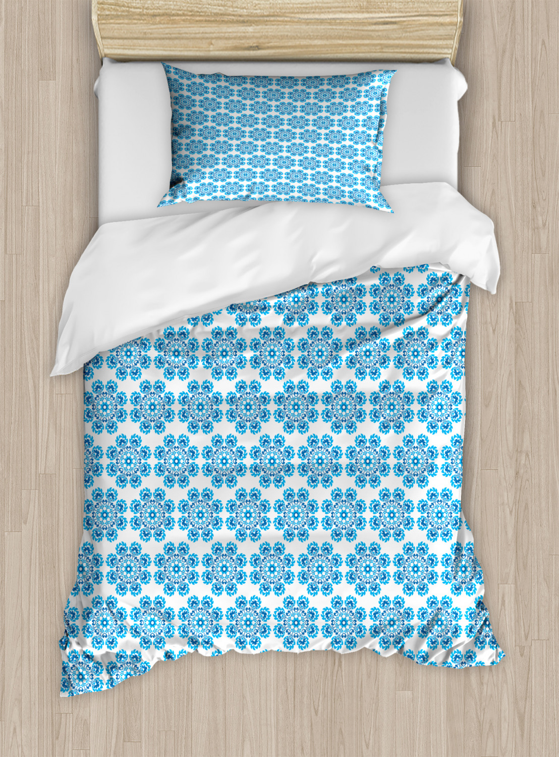 Timeless-Oriental-Duvet-Cover-Set-Twin-Queen-King-Sizes-with-Pillow-Shams thumbnail 7