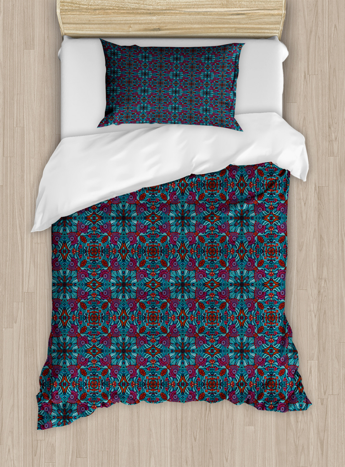 Timeless-Oriental-Duvet-Cover-Set-Twin-Queen-King-Sizes-with-Pillow-Shams thumbnail 34