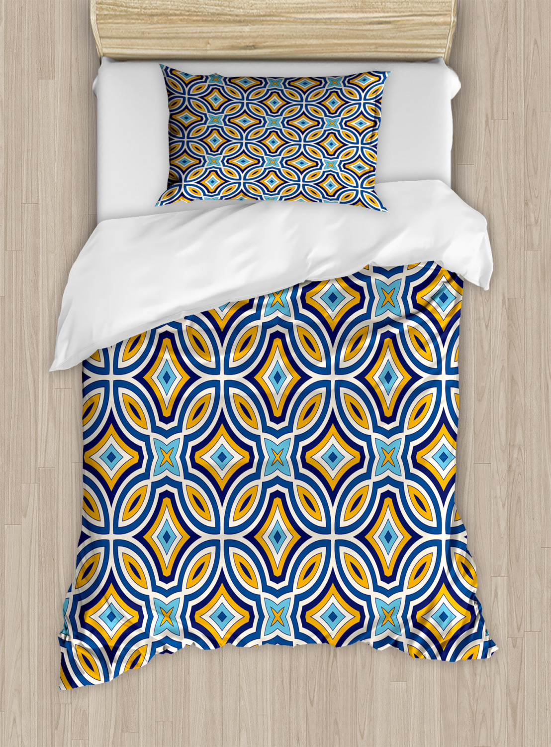 Timeless-Oriental-Duvet-Cover-Set-Twin-Queen-King-Sizes-with-Pillow-Shams thumbnail 31