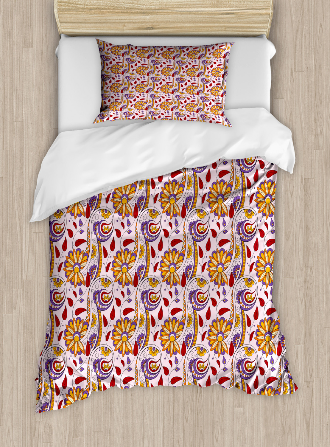 Timeless-Oriental-Duvet-Cover-Set-Twin-Queen-King-Sizes-with-Pillow-Shams thumbnail 37