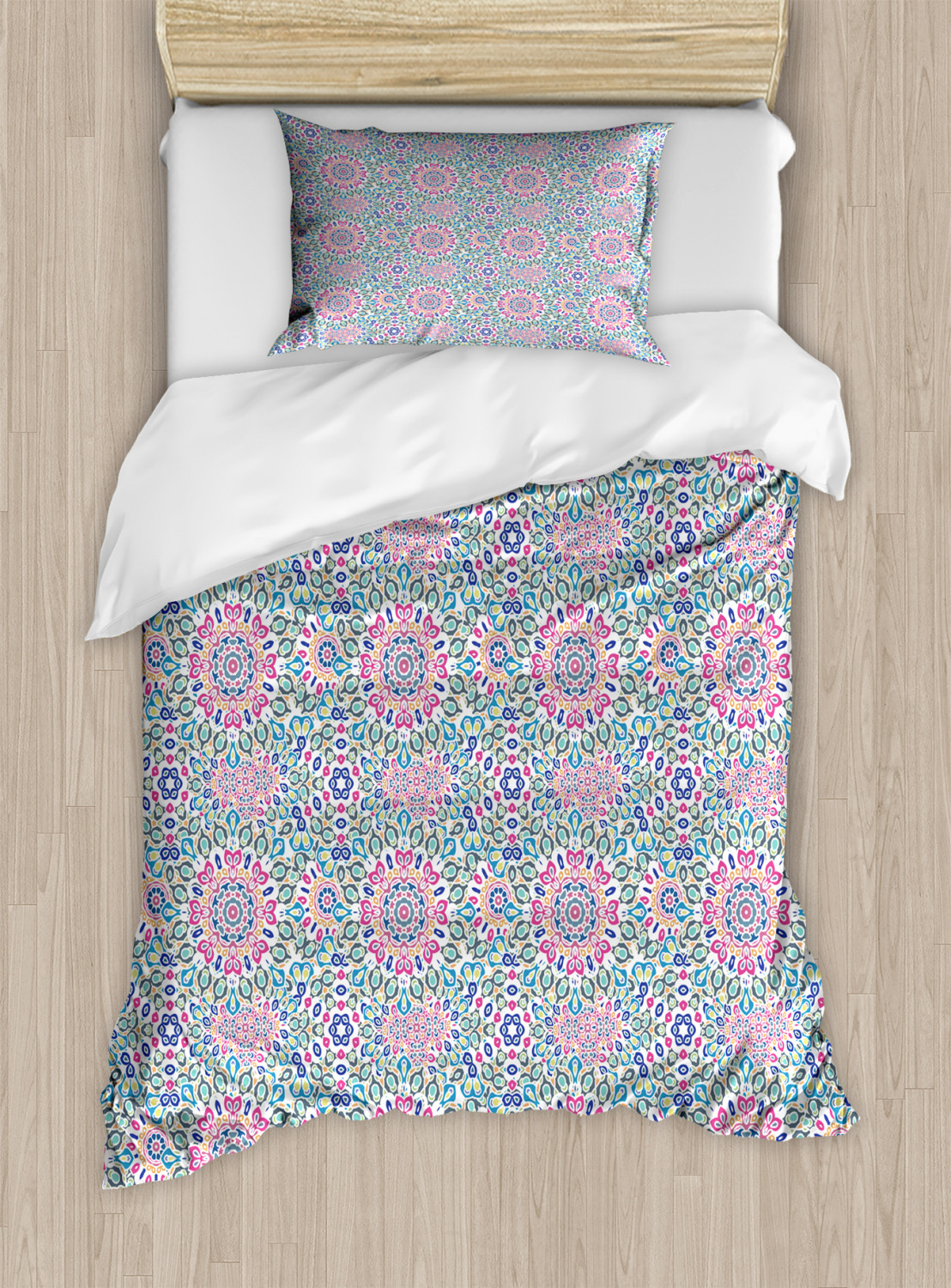 Timeless-Oriental-Duvet-Cover-Set-Twin-Queen-King-Sizes-with-Pillow-Shams thumbnail 40