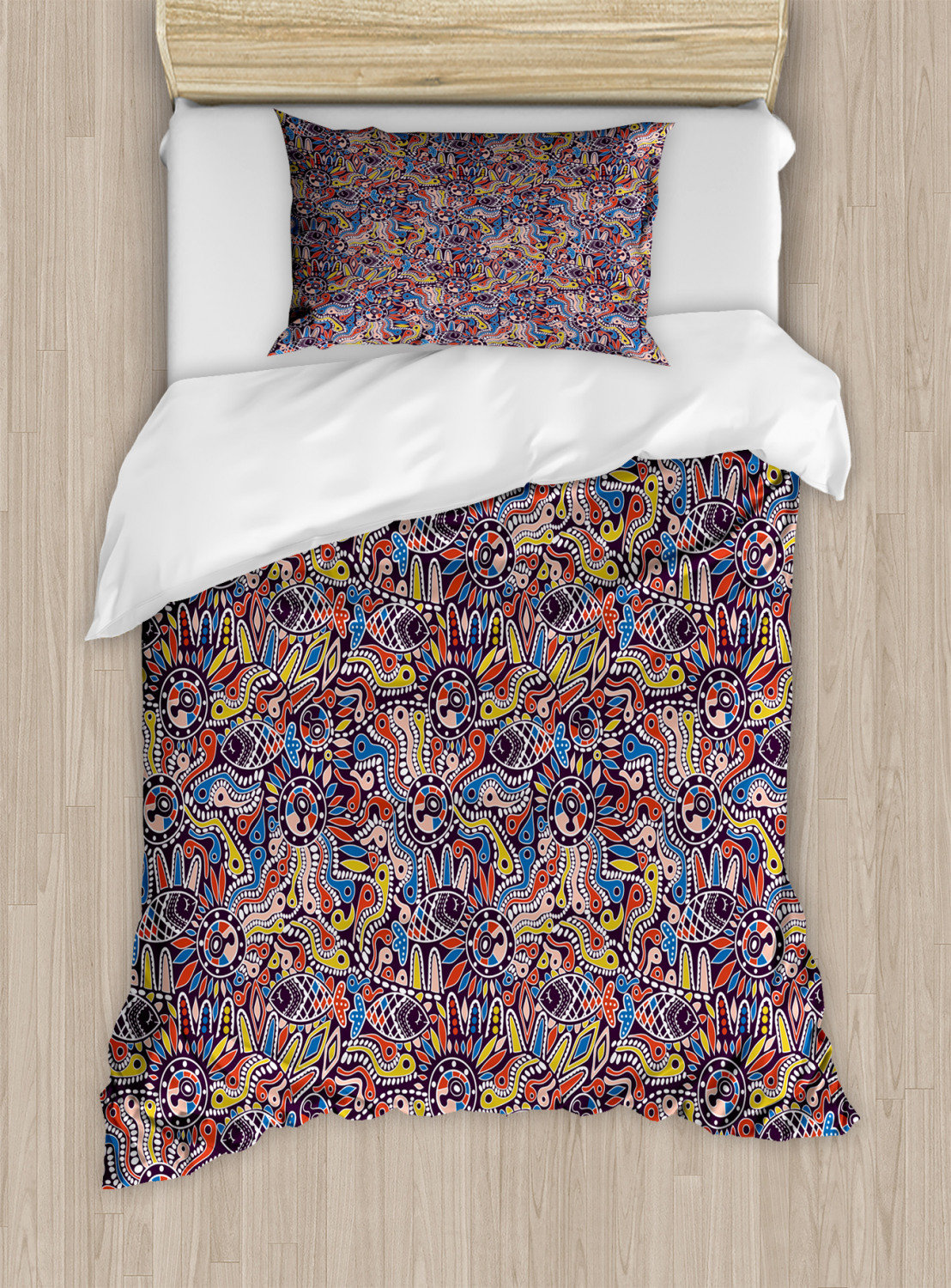 Timeless-Oriental-Duvet-Cover-Set-Twin-Queen-King-Sizes-with-Pillow-Shams thumbnail 79