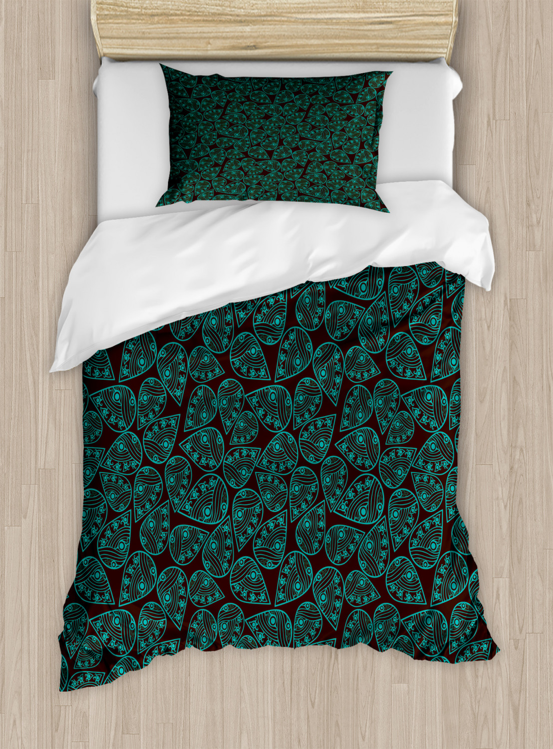 Timeless-Oriental-Duvet-Cover-Set-Twin-Queen-King-Sizes-with-Pillow-Shams thumbnail 19