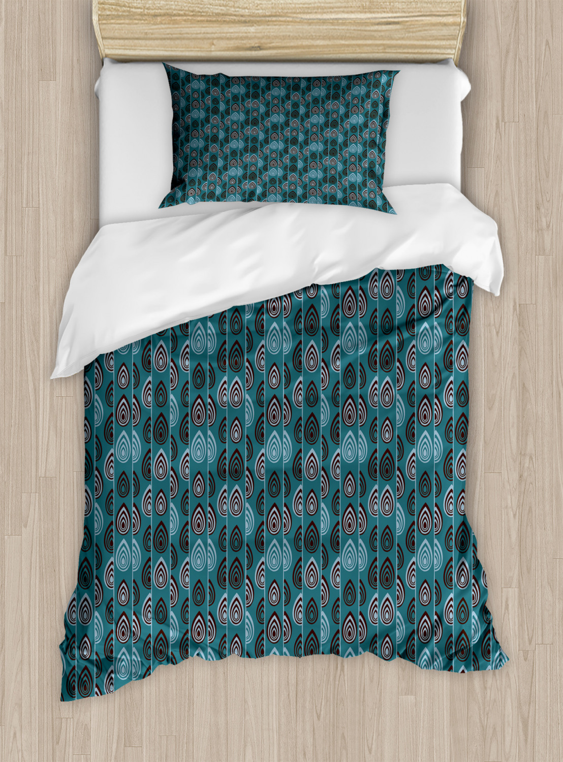 Timeless-Oriental-Duvet-Cover-Set-Twin-Queen-King-Sizes-with-Pillow-Shams thumbnail 52