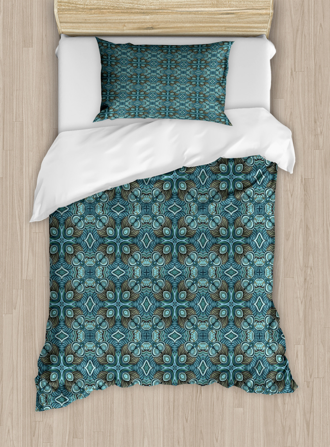 Timeless-Oriental-Duvet-Cover-Set-Twin-Queen-King-Sizes-with-Pillow-Shams thumbnail 28
