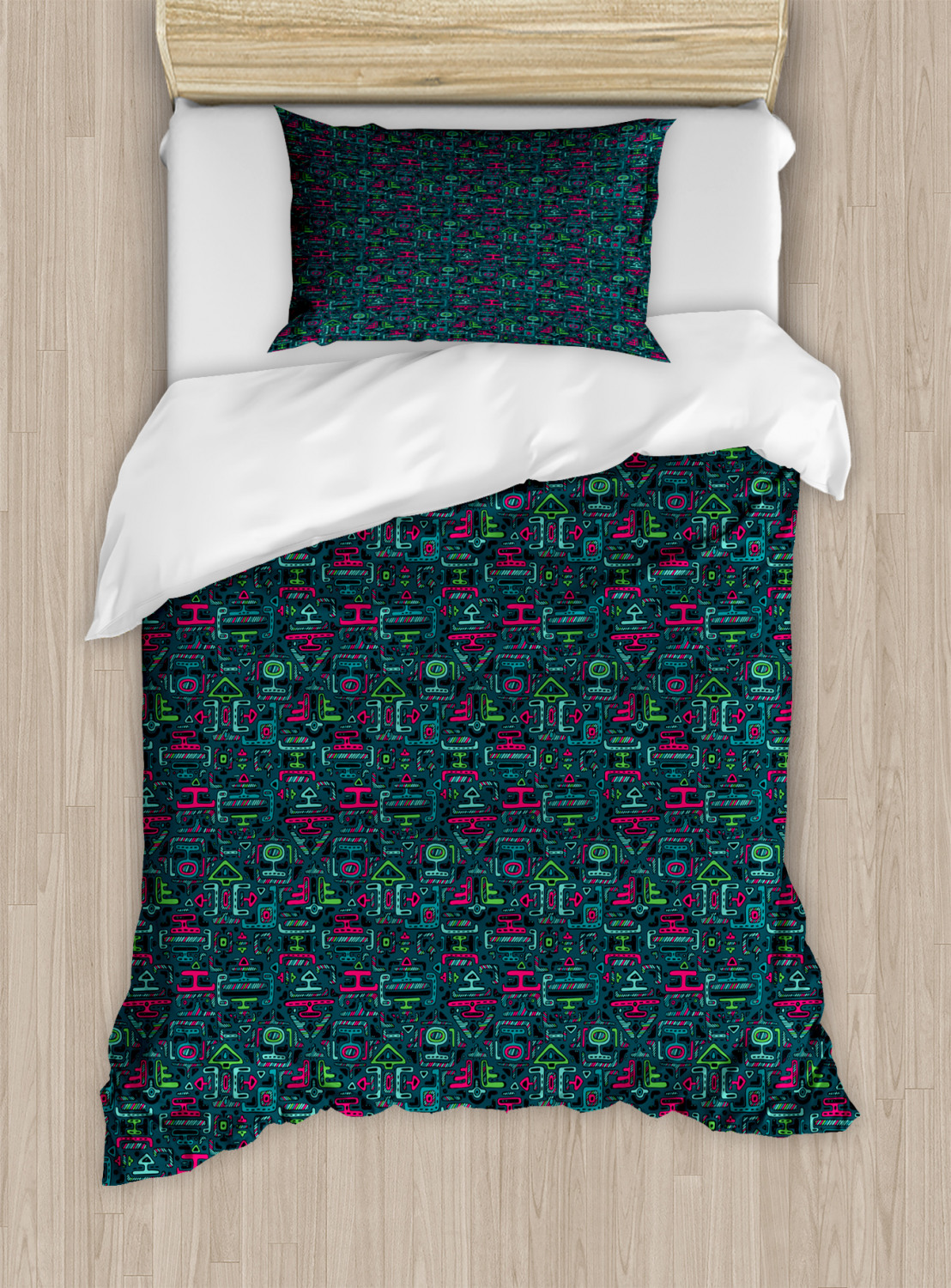 Timeless-Oriental-Duvet-Cover-Set-Twin-Queen-King-Sizes-with-Pillow-Shams thumbnail 91