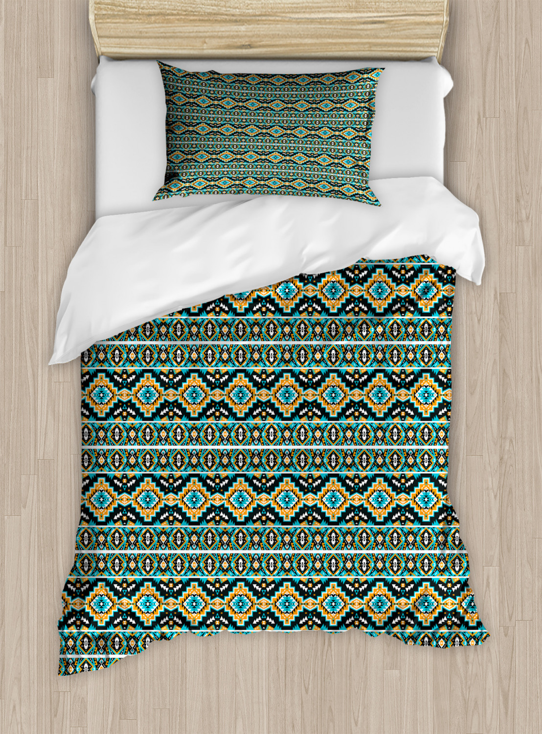 Timeless-Oriental-Duvet-Cover-Set-Twin-Queen-King-Sizes-with-Pillow-Shams thumbnail 25