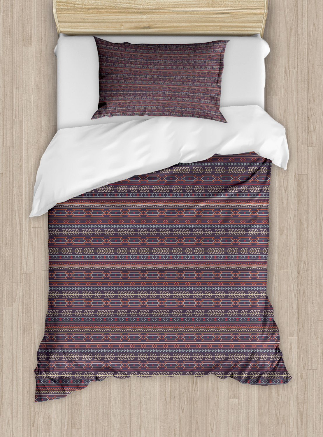 Timeless-Oriental-Duvet-Cover-Set-Twin-Queen-King-Sizes-with-Pillow-Shams thumbnail 4
