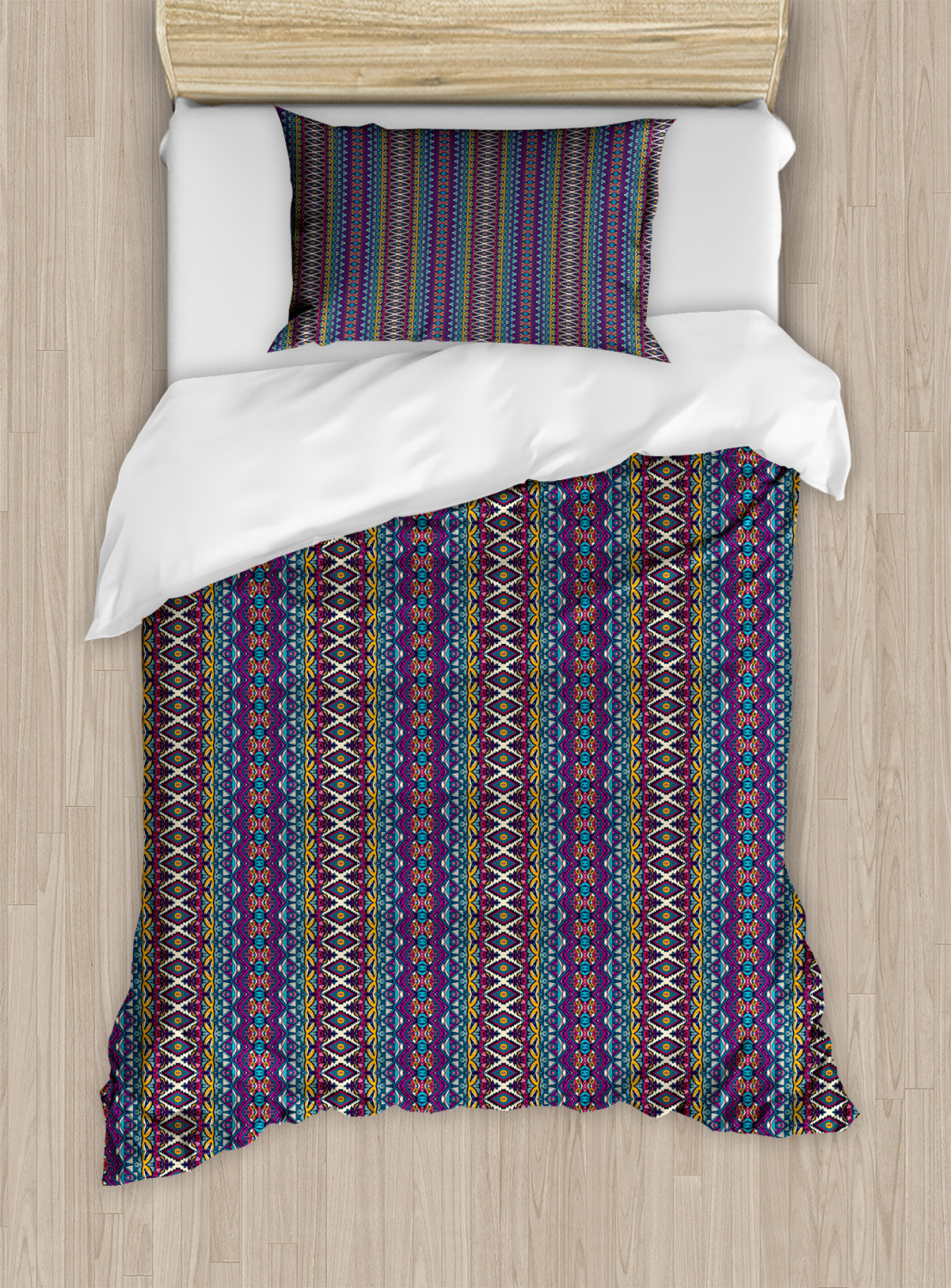 Timeless-Oriental-Duvet-Cover-Set-Twin-Queen-King-Sizes-with-Pillow-Shams thumbnail 88
