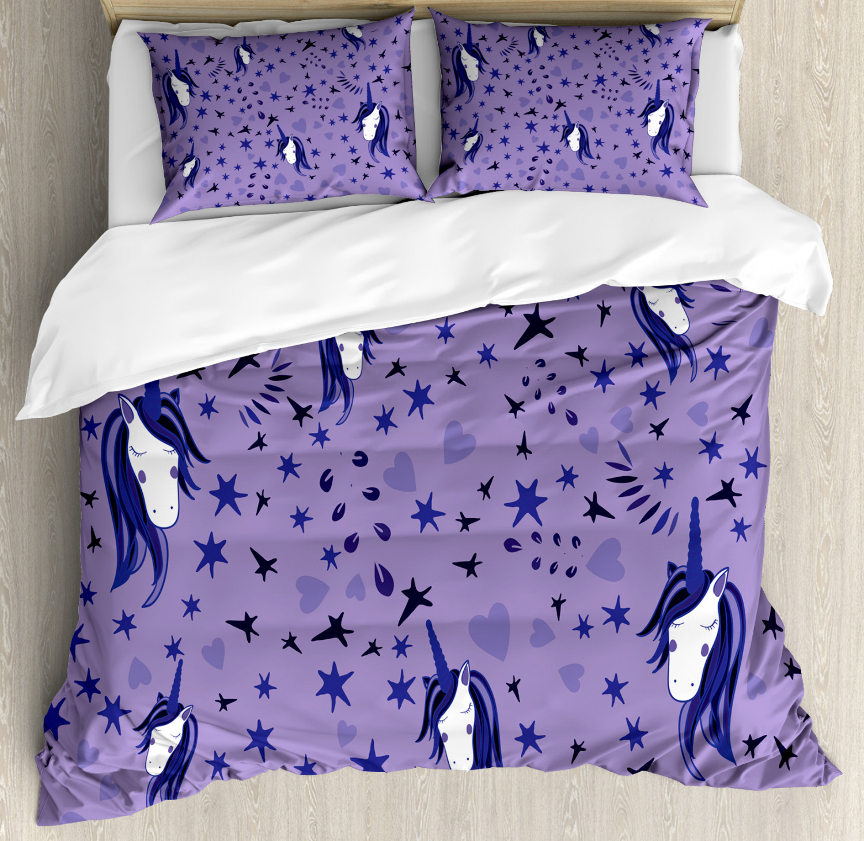Unicorn-Duvet-Cover-Set-Twin-Queen-King-Sizes-with-Pillow-Shams-Bedding-Decor thumbnail 43