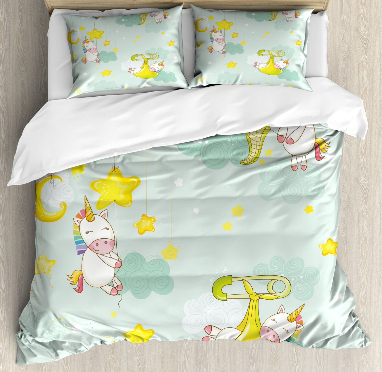 Unicorn-Duvet-Cover-Set-Twin-Queen-King-Sizes-with-Pillow-Shams-Bedding-Decor thumbnail 79