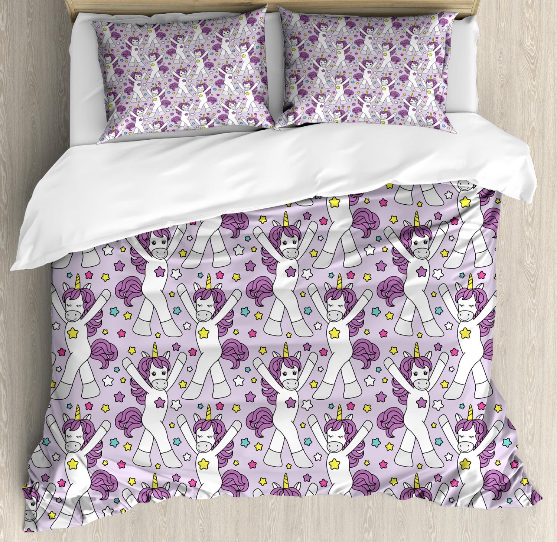 Unicorn-Duvet-Cover-Set-Twin-Queen-King-Sizes-with-Pillow-Shams-Bedding-Decor thumbnail 34