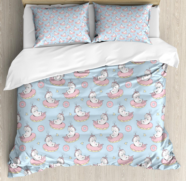 Unicorn-Duvet-Cover-Set-Twin-Queen-King-Sizes-with-Pillow-Shams-Bedding-Decor thumbnail 25
