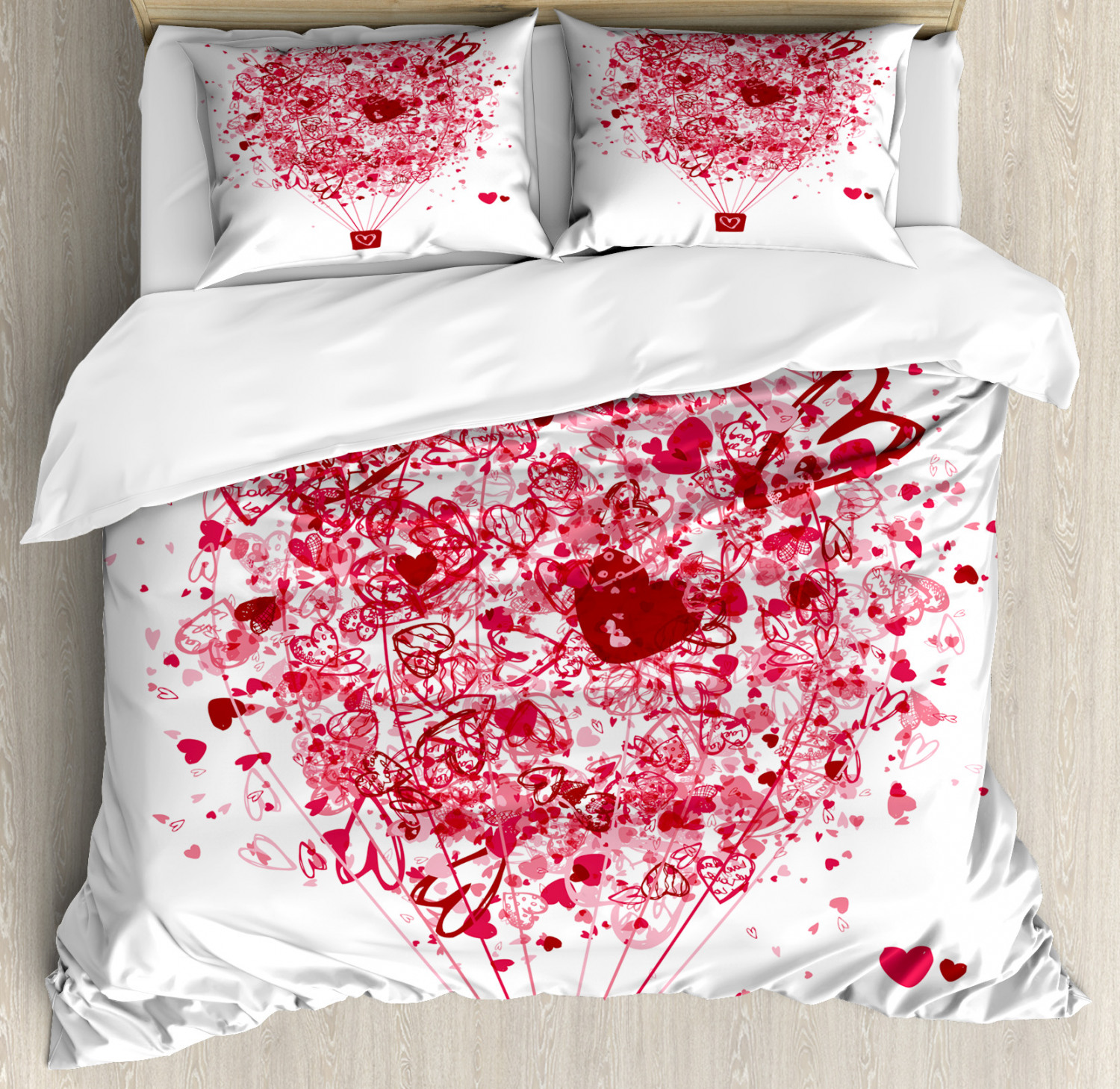 pink and white duvet cover set twin queen king sizes with pillow shams bedding ebay. Black Bedroom Furniture Sets. Home Design Ideas