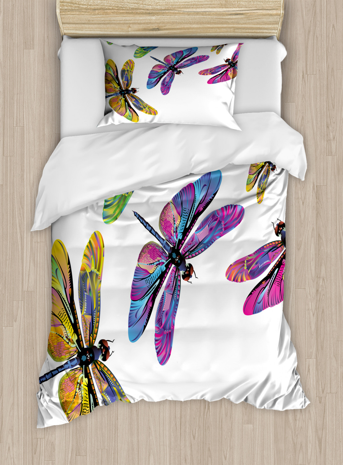 Dragonfly Duvet Cover Set Twin Queen King Sizes With