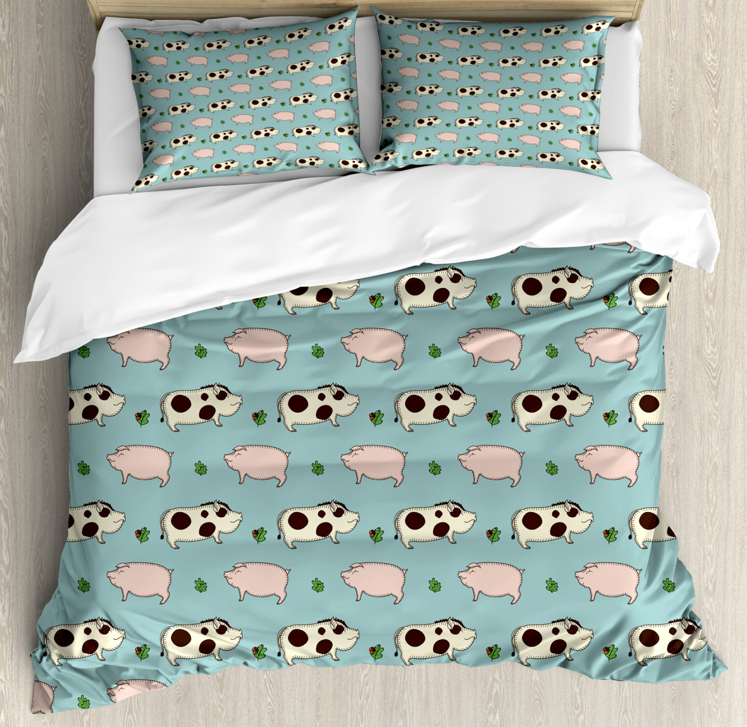 3 Sizes Bear and Hedgehog Friends Soft /& Cosy Brushed Cotton Duvet Cover Set