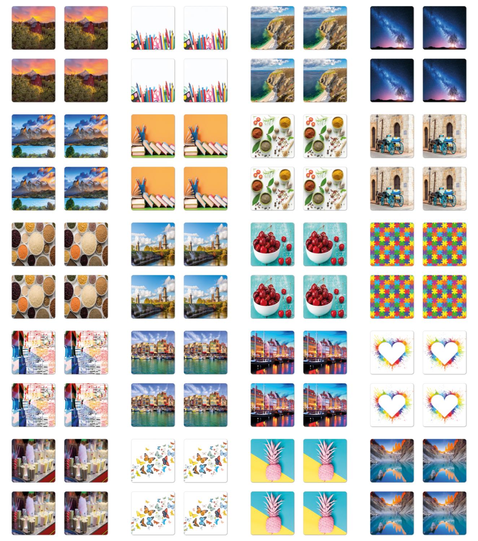 Ambesonne Colorful Love Coaster Set of 4 Square Hardboard Gl