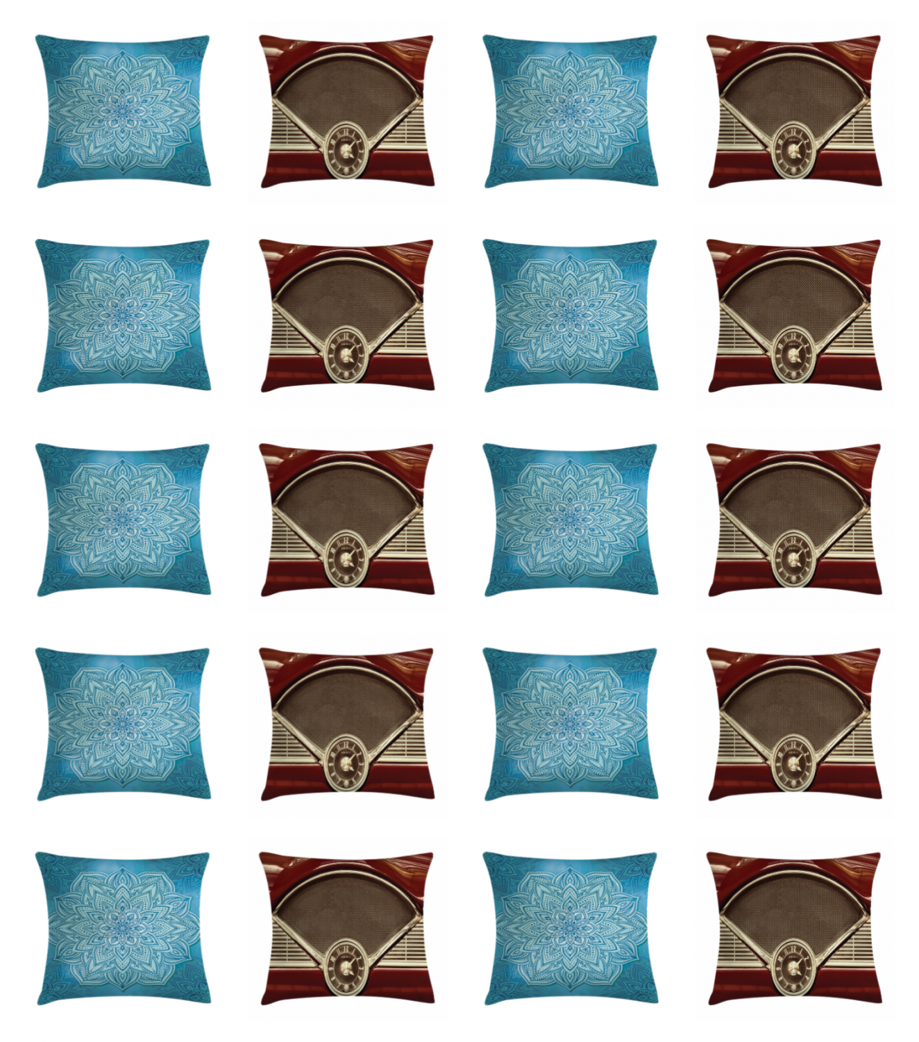 Bed Decor Cushion by Ambesonne Pillow Cover Square & Throw P