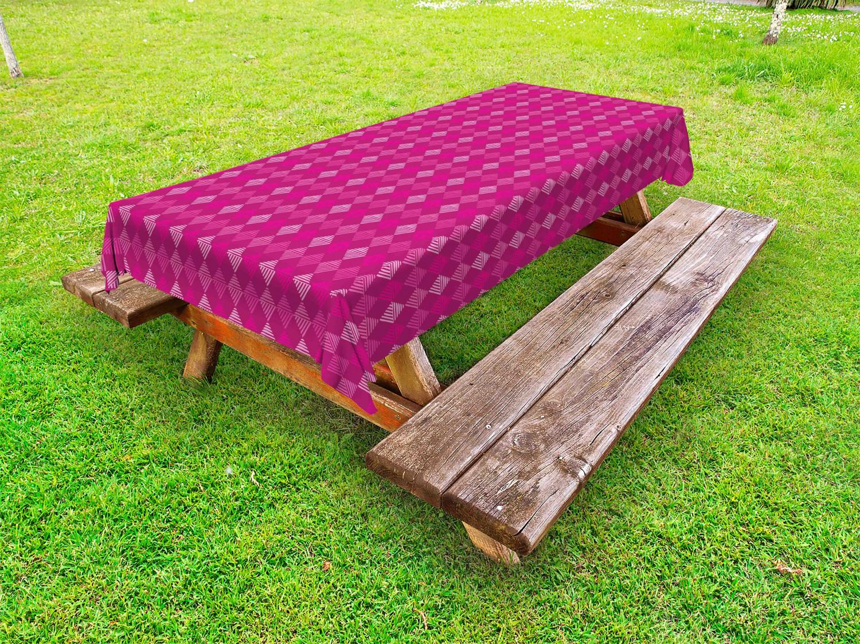 Geometrisch Outdoor-Tischdecke Pinkish Diagonal Squares