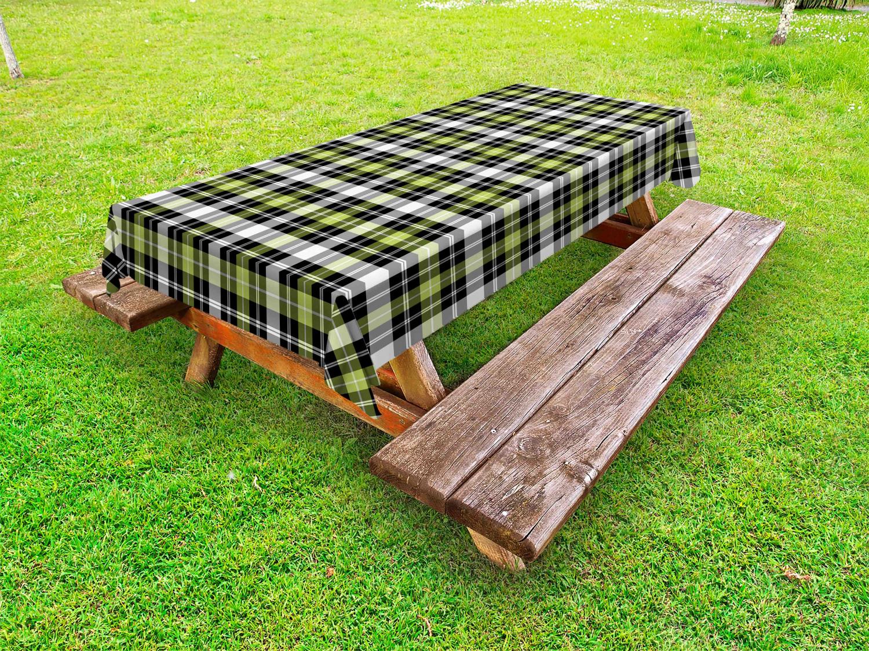 Geometrisch Outdoor-Tischdecke Vertikale quadratische Linien
